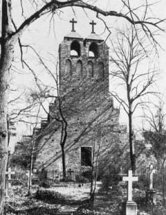 Historisches Foto der Nicolaikirche in Brandenburg
