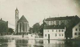 Historische Aufnahme der Johanniskirche Brandenburg um 1910